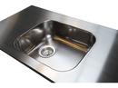 Stålvask Intra Juvel A480 isvejst i en 30 mm rustfast stålbordplade.