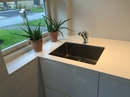 Dupont Corian bordplade med underlimet vask.