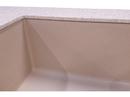 Underlimet granitvask Blanco Subline 500 i en Dupont Corian bordplade. Farve på vask er Champagne. Farve på bordplade er Sahara.